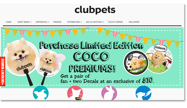 Clubpets Magazine Website