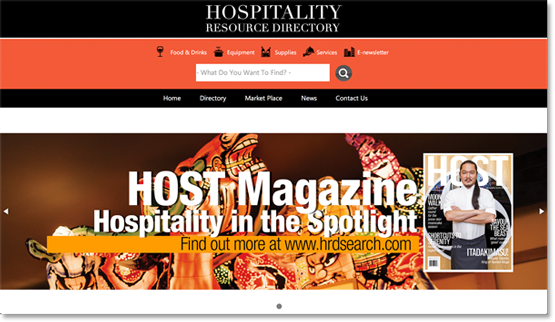 Hospitality Resource Directory Magazine Website